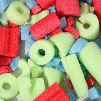 pool noodles building blocks for kids