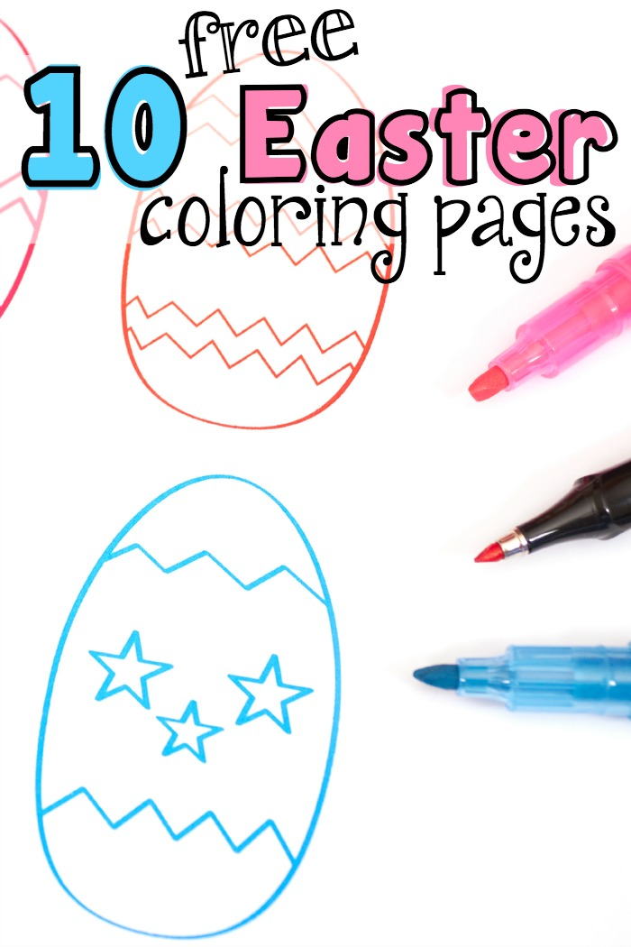 10 free easter coloring pages featured