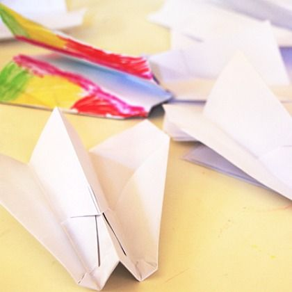 Paper Airplanes from Tinkerlab