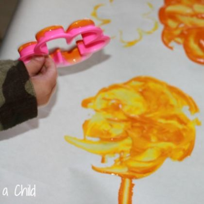 Cookie Cutter Prints for a fun filled painting afternoon session with  your little ones!