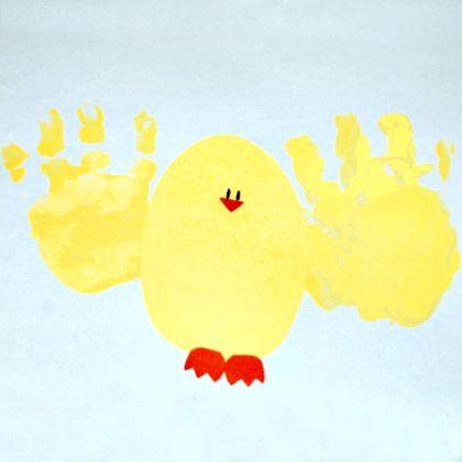Hand-print-chicks