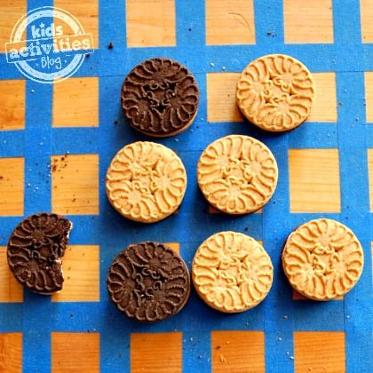 Homemade Game for Kids Cookie Othello Kids Activities Blog, edible cookie sandwich board game