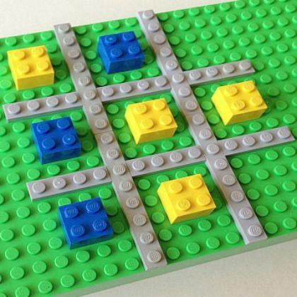 Tic-Tac-Toe Lego Game, checker lego board game