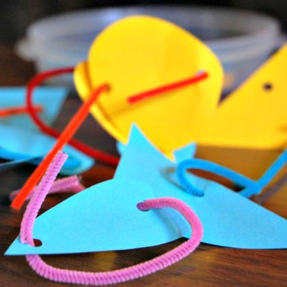 Twisty Loops with colorful papers, shapes, and pipe cleaners