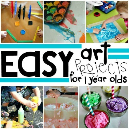 easy art projects for 1 year olds