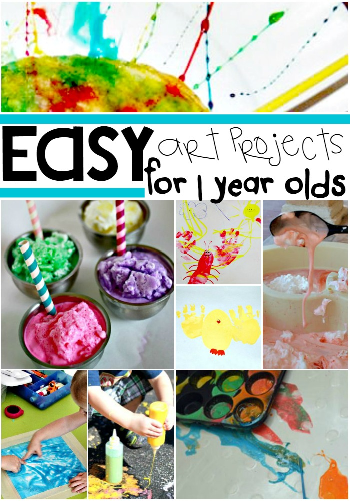 Have fun creating these Easy Art Projects for Your 1 Year Olds!