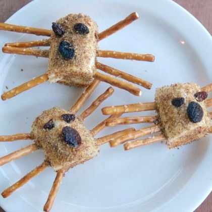 Munching these yummy banana spiders with your kids! Because, why not?