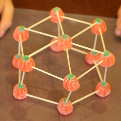 Build amazing structures with this super fun and easy building structures with candy pumpkins!