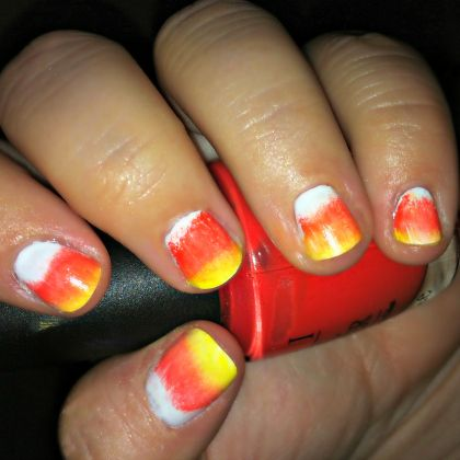candy corn nails420