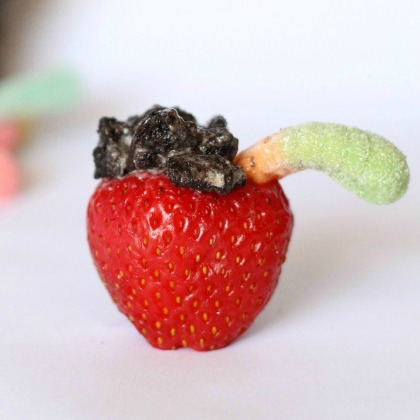 dirt-worm-strawberries