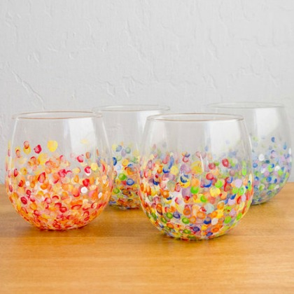 paint flowers in glass jars for colorful vases