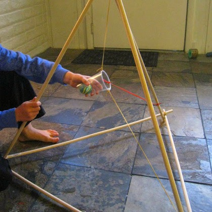 homemade catapult, huge homemade catapult