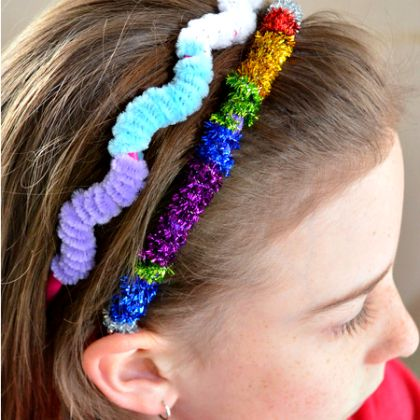 pipe cleaner headband