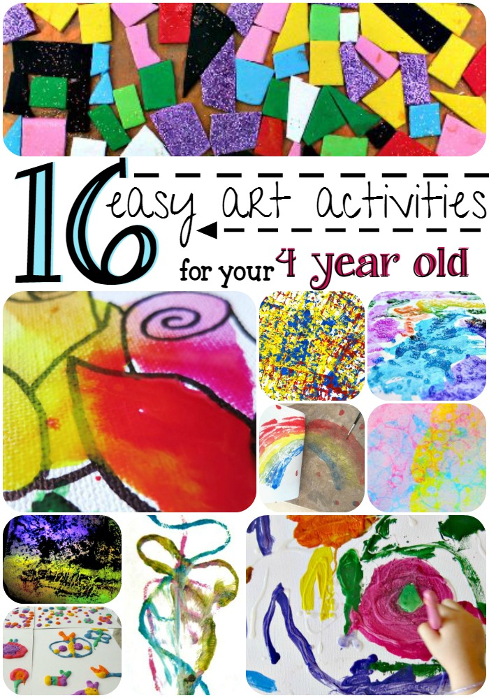 16 easy art activities for your four year old