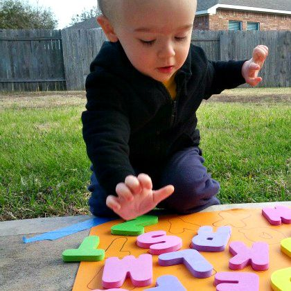 Alphabet Game is perfect first letter activity for toddlers