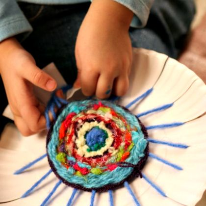 Let your kids learn how to weave with some coasters following the tutorial!
