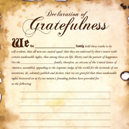 declaration of gratefulness