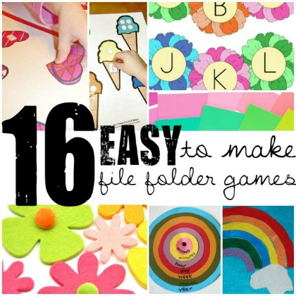 Easy to make file folder games with your kids at home!