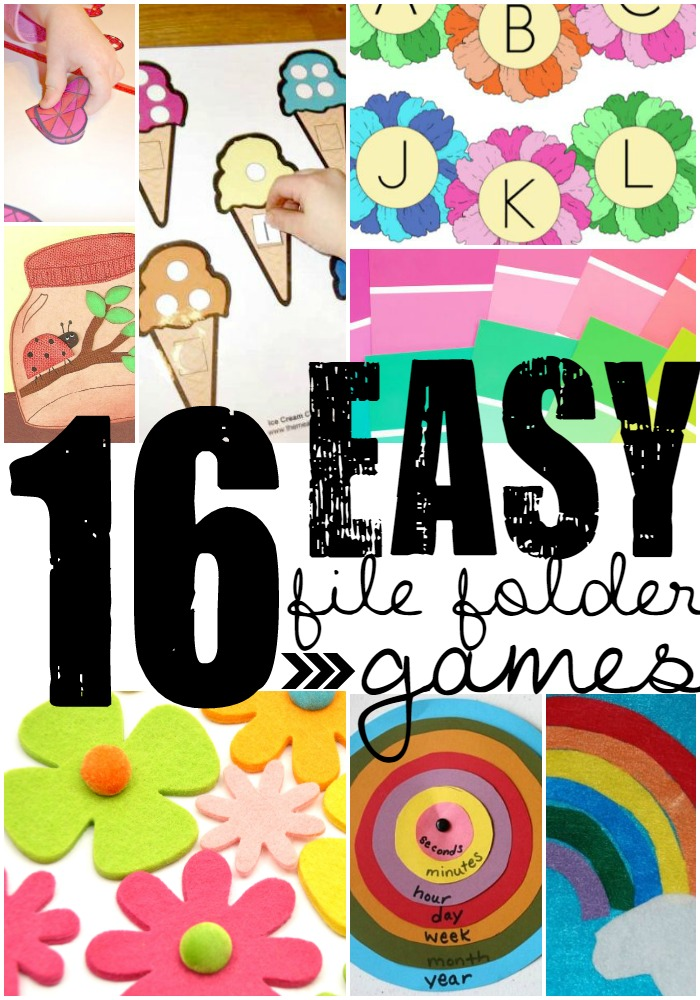 Easy File Folder Games you can do with your kids!