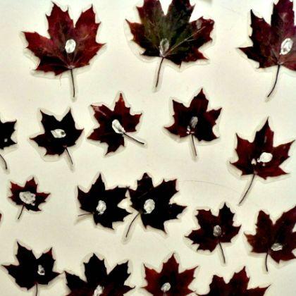 real leaf magnet, 13-leafy-crafts-and-activities-for-kids, creative leaf crafts for kids
