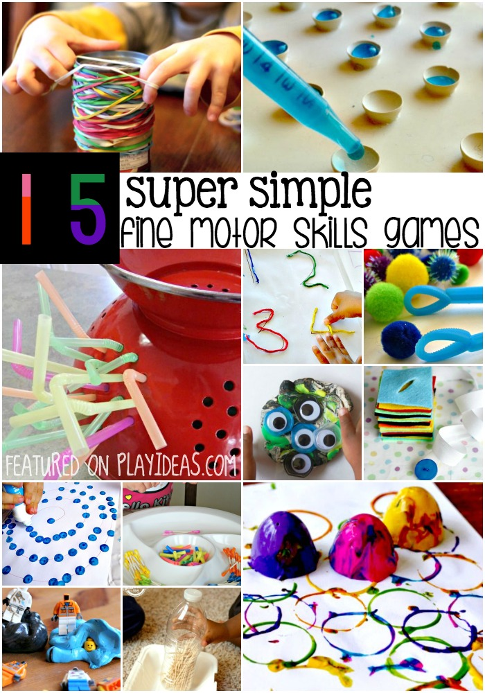 15 super simple fine motor skills games