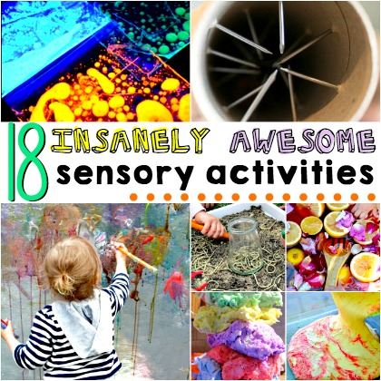 18 insanely awesome sensory activities for kids
