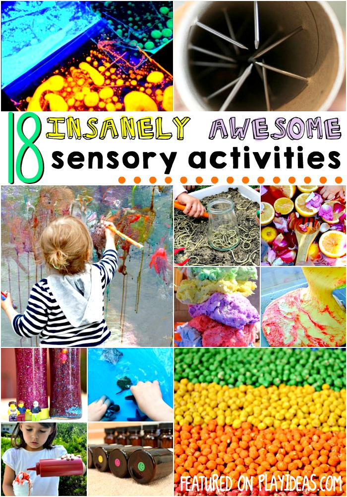 18 insanely awesome sensory activities