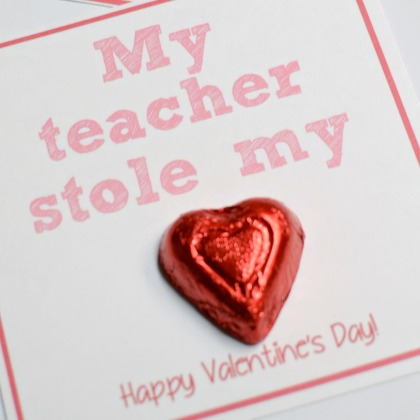 Candy Valentine for Teachers