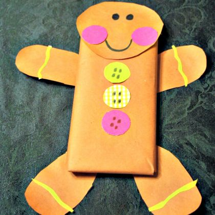 Gingerbread Man Chocolate Gift WRap