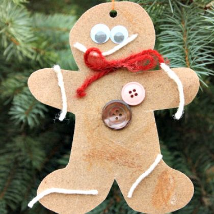 sandpaper gingerbread ornaments