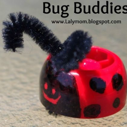 Ladybug Finger Pupper Bug Buddies Insect Craft for Kids from Lalymom