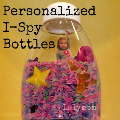Personalized I-Spy Bottles from Lalymom