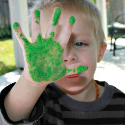 Sand Painting - textured sensory paint (6)