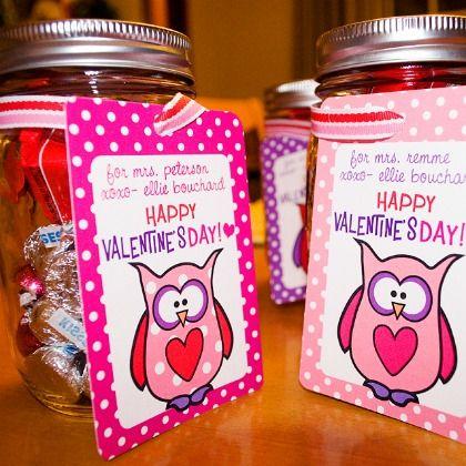 Valentines candy mason jar