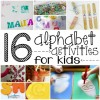 16 Alphabet Activities For Kids