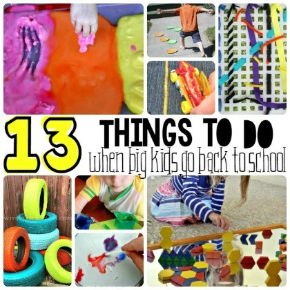 13 Things To Do Together When The Big Kids Go To School