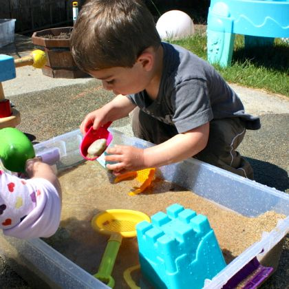 beachthemed sensory box