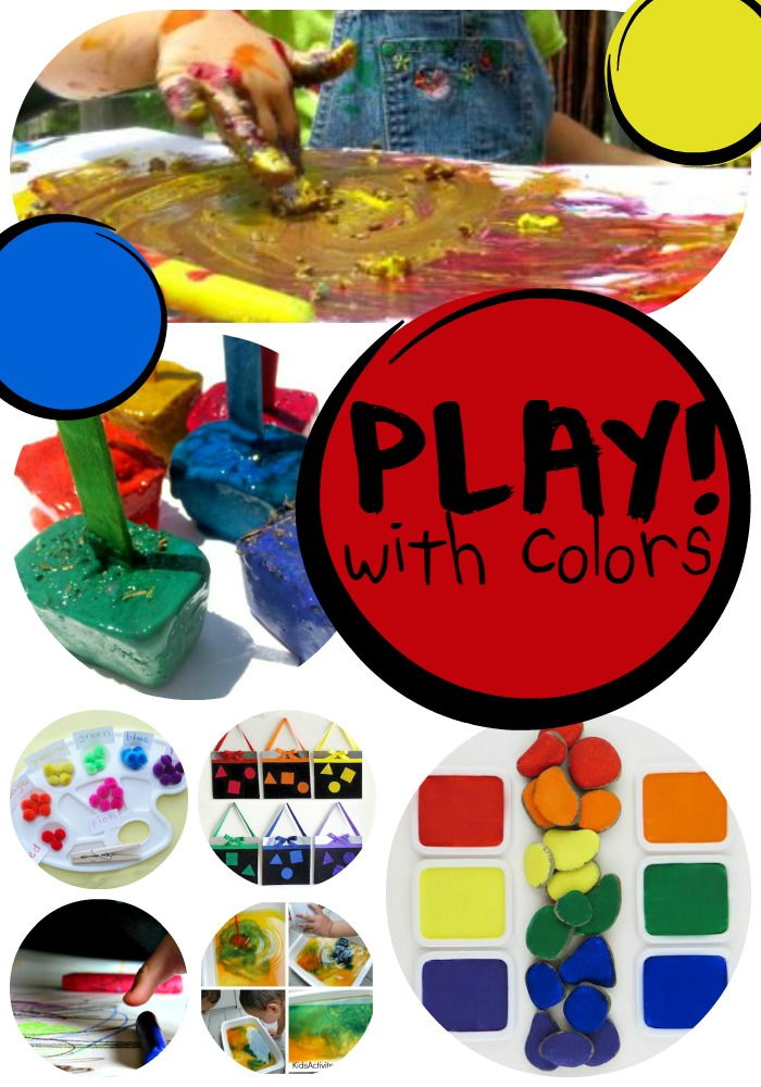 preschoolers play with color