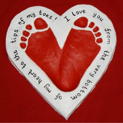 footprint heart craft