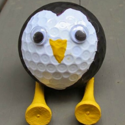 golf ball penguin