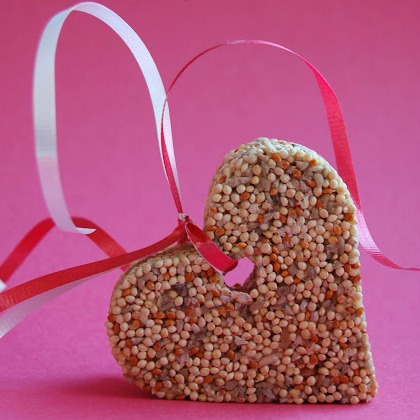 heart shaped birdfeeders