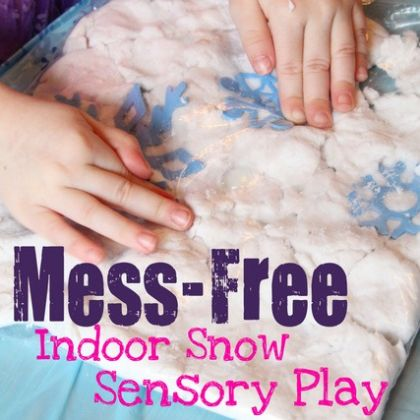mess free snow play