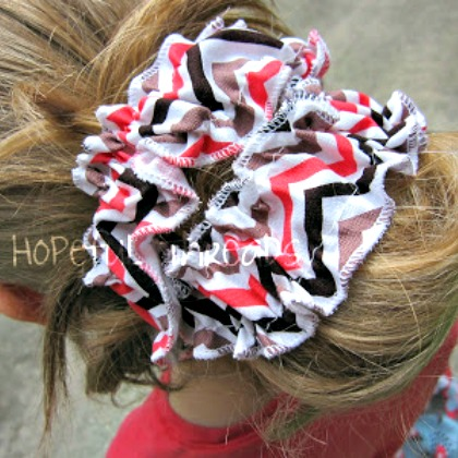 ruffle hair wrap