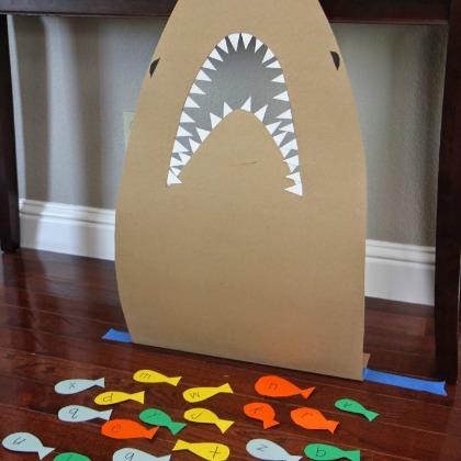 shark letter game