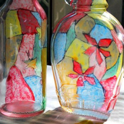 snow globe bottle art