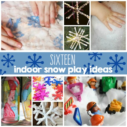 16 Indoor Snow Play Ideas for Kids
