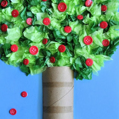 tissue paper apple tree