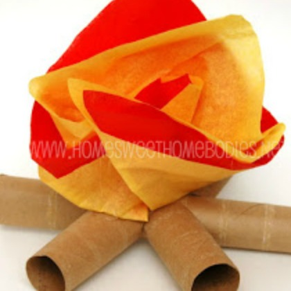 tissue paper fire