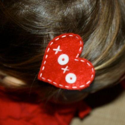 vday hair clip