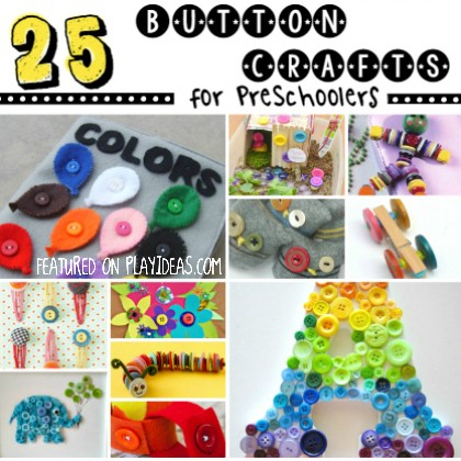 25 Cute as a Button Crafts For Preschoolers
